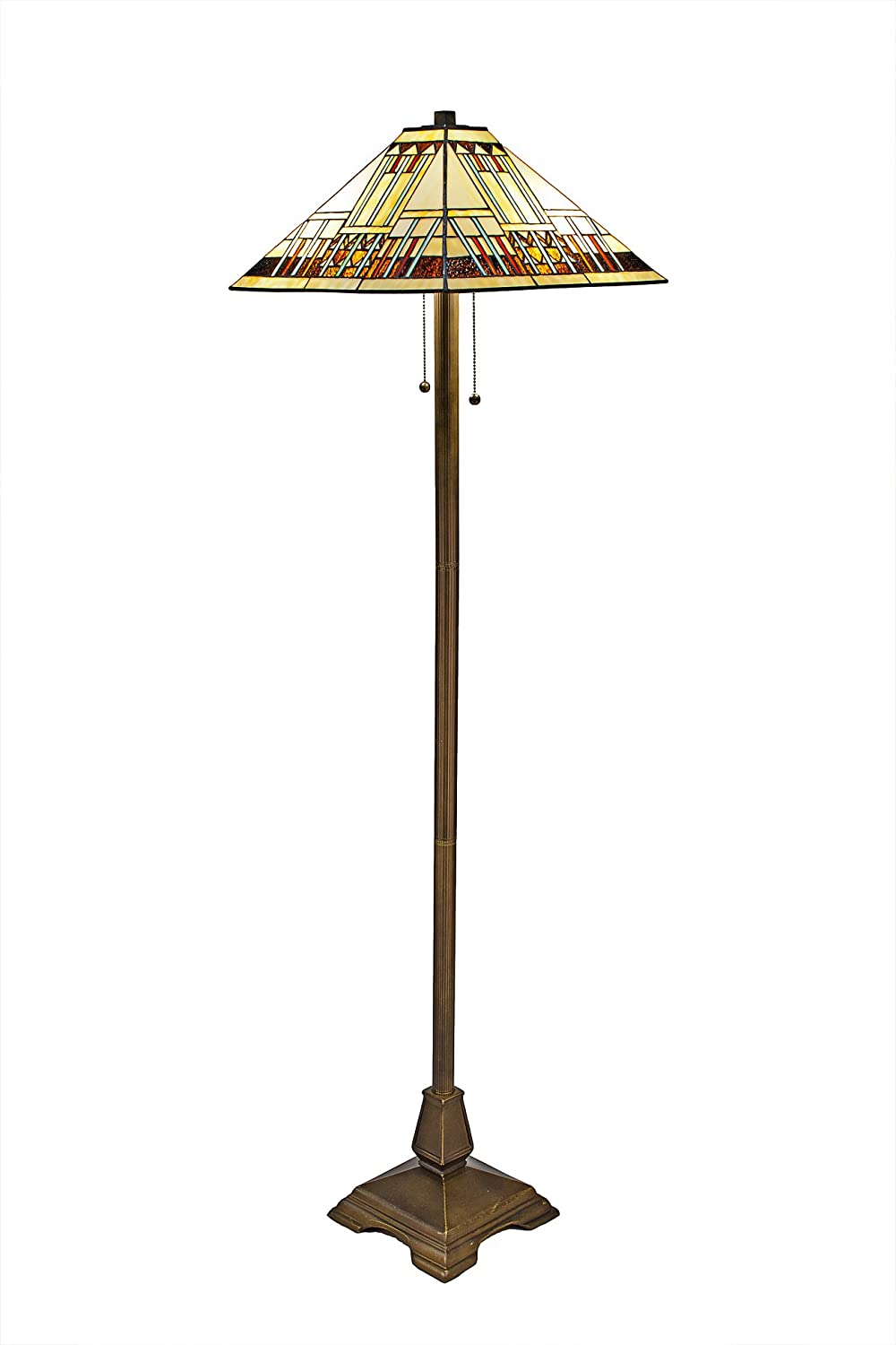 Tiffany Style Mission Floor Lamp