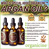 Organicine Virgin Argan Oil 100% Pure & Organic (FREE Lip Balm Chapstick as a GIFT) Natural Treatment for Hair, Face, Nails, Skin, Body - Premium Care Product USDA Certified, Cold pressed Argon from Morocco, great moisturizer - Buy Risk Free + Get FREE E-book as a GIFT (Price is for 1 bottle only)
