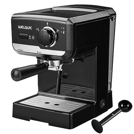 WELQUIC Máquina de Café con Bomba de 15 Barras, Control de ...