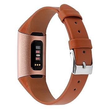 XIHAMA Bracelet de Rechange en Cuir pour Fitbit Charge 3 ...