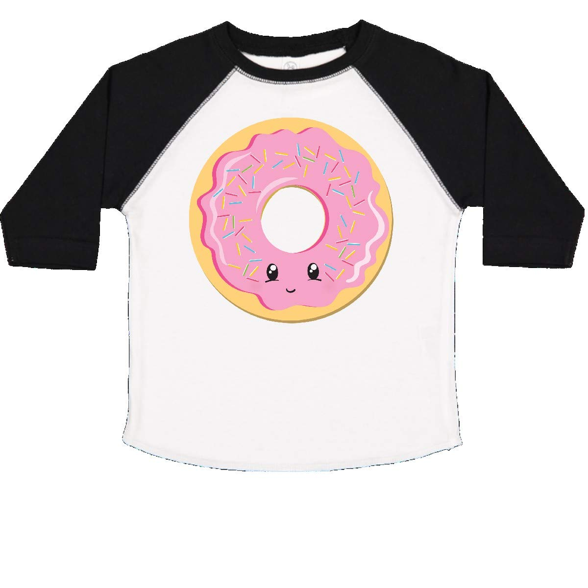 inktastic Light Pink Donut Toddler T-Shirt 3T White and Black by inktastic