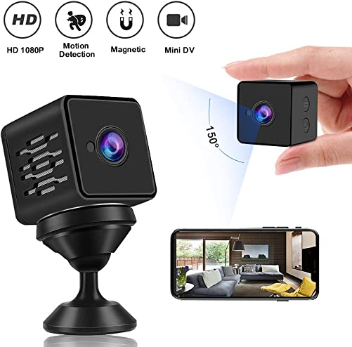 WZTO Mini Spy Camera WiFi Wireless Hidden Camera 1080P HD Home Mini WiFi Nanny Cam with Talk Two Way Security Cameras Upgraded Night Vision Indoor Motion Detection Covert Surveillance Video Camera