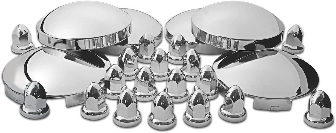 Model Number THUB-C2 Trux Accessories Chrome Front and Rear Hubcap Kit