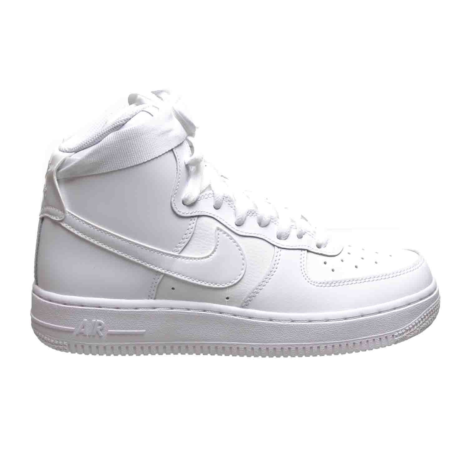Nike Air Force 1 High (GS) Big Kids Shoes White 653998-100 (6.5 M US) by NIKE