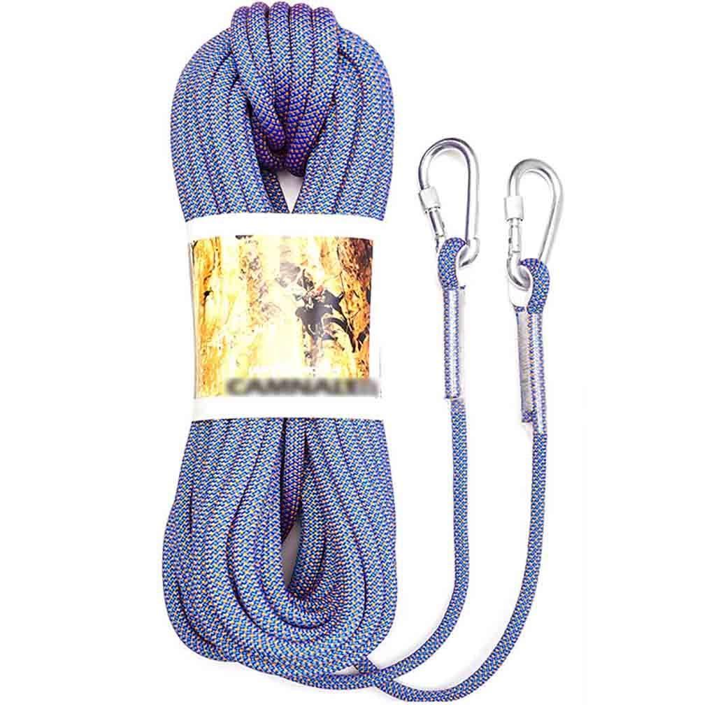 クライミングハーネス 直径10.5 mmの9芯織りクライミングロープ、ナイロン耐摩耗性滑り止め屋外クライミングロープ、70 g静張力2500 kg高高度下り坂作業ロープ (Size : 30m)  30m
