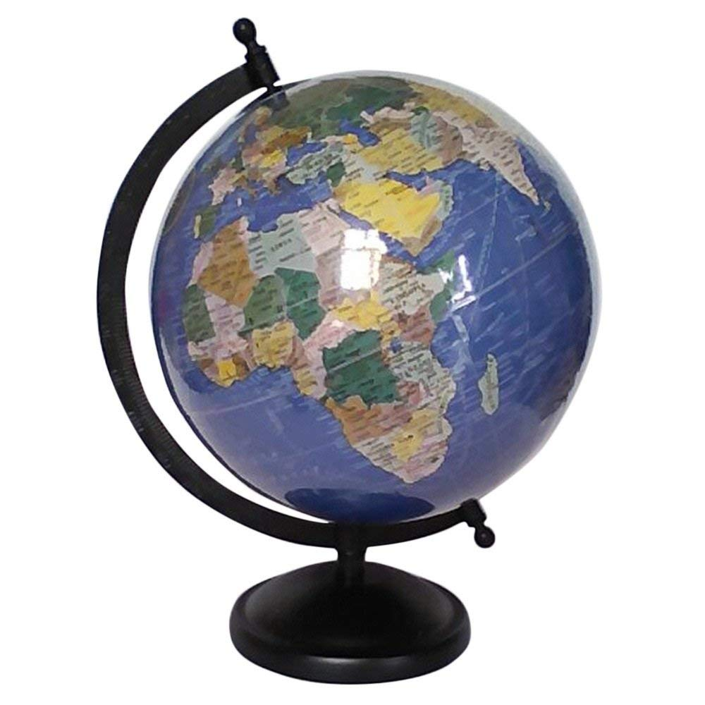 8  Unique Antiique Look Look Look Laminated Navy Blau Ocean World Globe By Globes Hub - Perfect for Home, Office & Classroom 180851