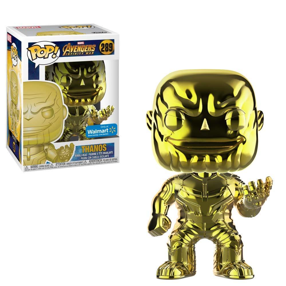 Thanos Yellow Chrome Avengers Funko POP Marvel: Infinity War Walmart Exclusive