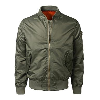 ODJOY-FAN Männer Einfarbig Tasche Mantel Herbst Winter Beiläufig Outwear  Solide Schlank Jacke Reißverschluss Herrenjacke 9f339c43b9
