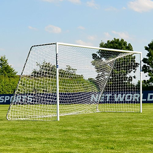 Forza Alu60 Soccer Goal (16ft x 7ft) (Single or Pair) (Optional Target Sheet) – Super Strong Aluminum Soccer Goal Perfect for Mini Soccer [Net World Sports] (Pair of Goals & Target Sheets) For Sale