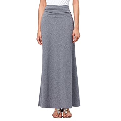 BABUBALA Elegant Fashion Cotton Long Skirts NEW Vestidos Stretch Maxi Women Skirt Autumn Winter Casual Big