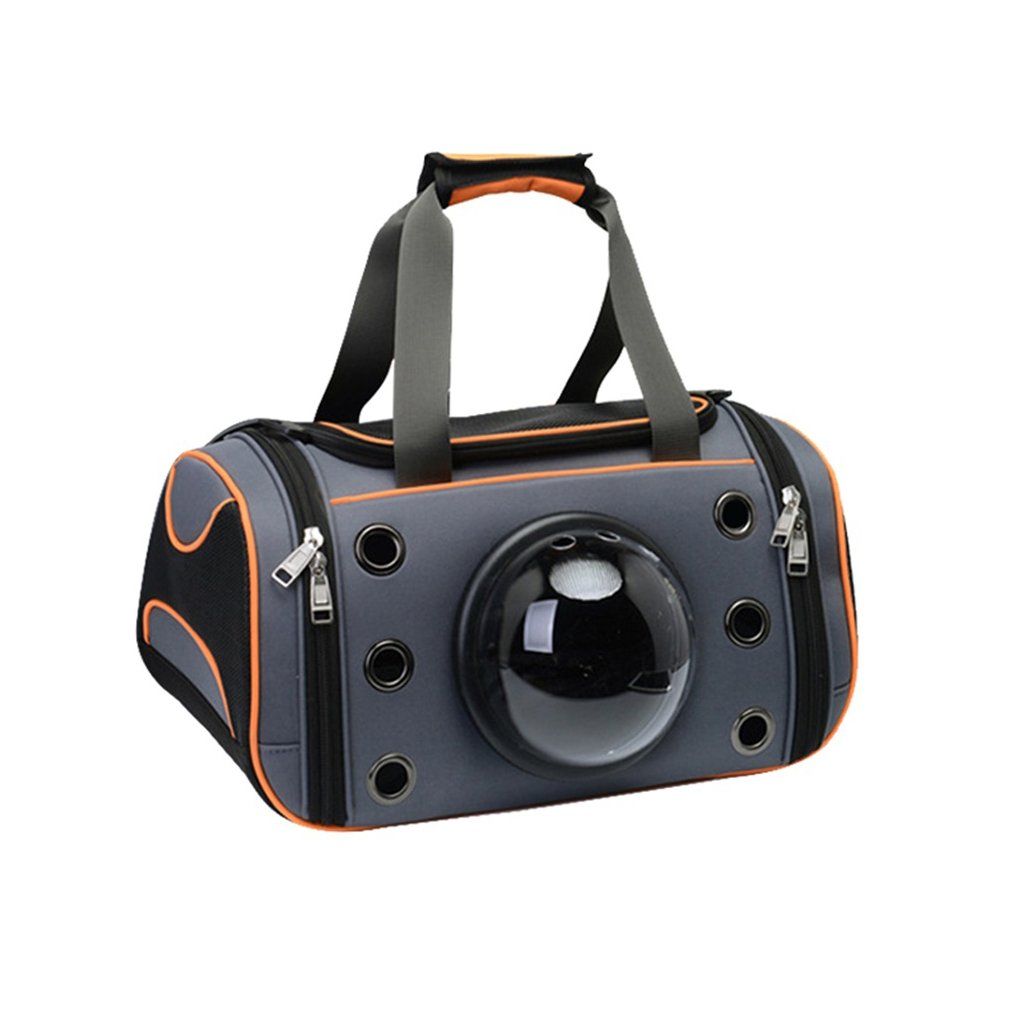 LY-YL222 Pet Tote Portable Space Caps Pet Bag Cat Backpack Transparent Pet Cage Multi-function Household Kennel Outdoor Travel Dog Shoulder Bag