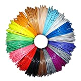 Greatssly 594 Linear feet 3D Pen Filament Refills 1.75mm PLA material of 18 Unique Colors 33 feet Each Color (Not ABS)