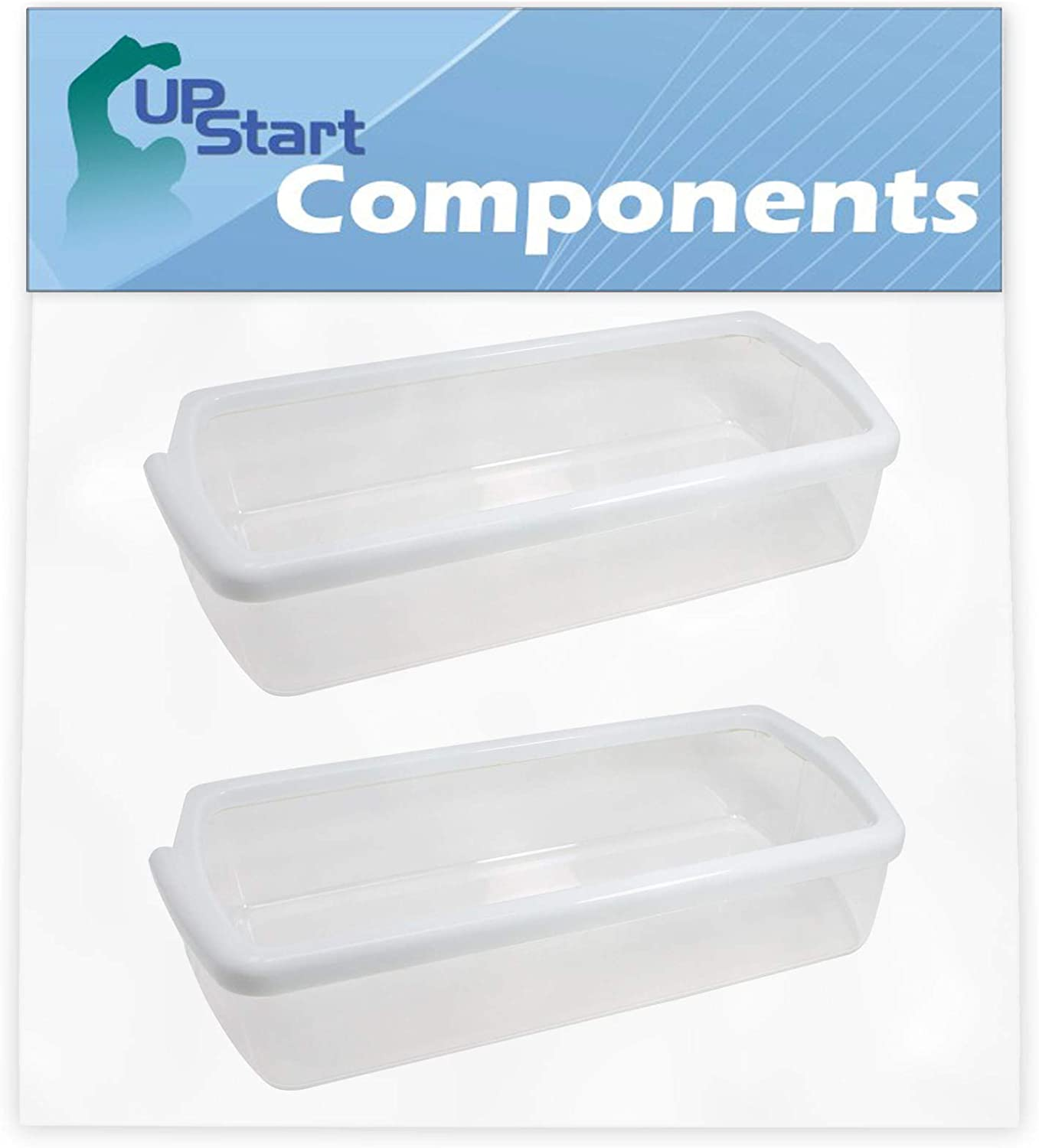 2-Pack W10321304 Refrigerator Door Bin Replacement for Whirlpool ED5PVEXWS07 Refrigerator - Compatible with WPW10321304 Door Bin