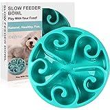 Siensync Slow Feeder Dog Bowl, Non Slip Puzzle Bowl Fun Feeder Interactive Bloat Stop Dog Bowl, Eco-Friendly Non Toxic…