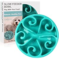 Siensync Slow Feeder Dog Bowl, Non Slip Puzzle Bowl Fun Feeder Interactive Bloat Stop Dog Bowl, Eco-Friendly Non Toxic Bamboo Fiber Slow Feed Dog Bowl for Large Medium Small Dogs