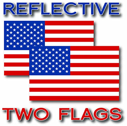 EZ CUT PRO 2x REFLECTIVE USA American Flag Decal 3M Stickers Exterior Various Sizes (1.5