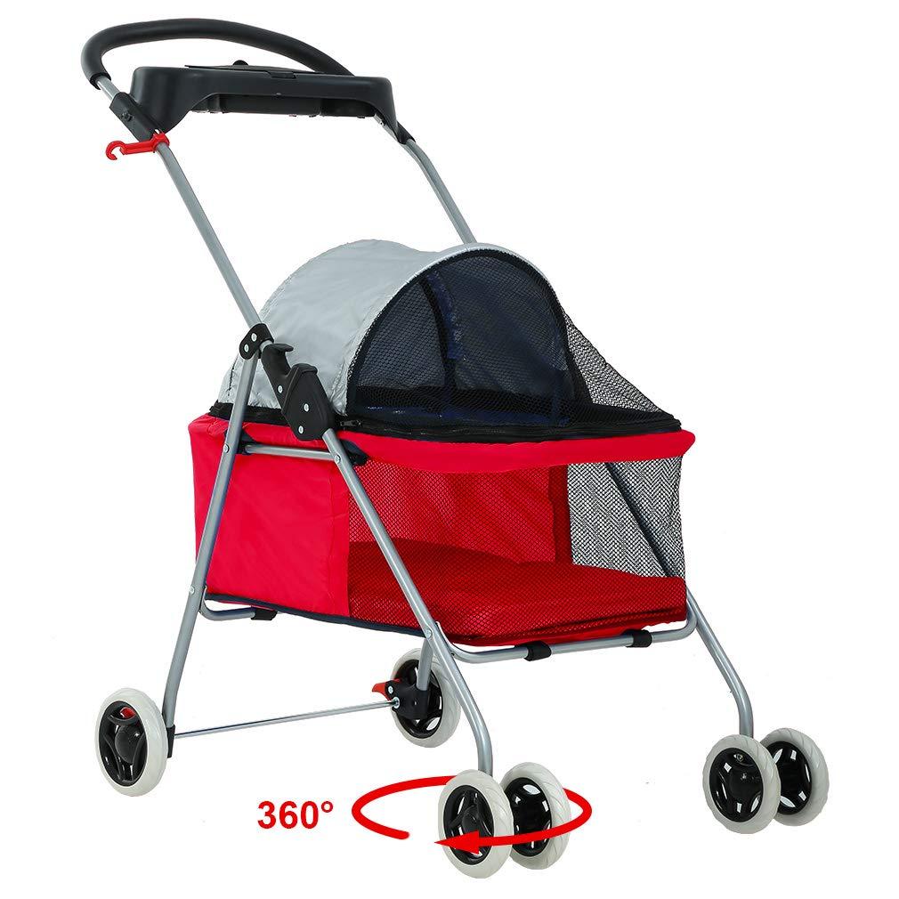 Best Pet Swanky Pet Stroller, Red by BestPet