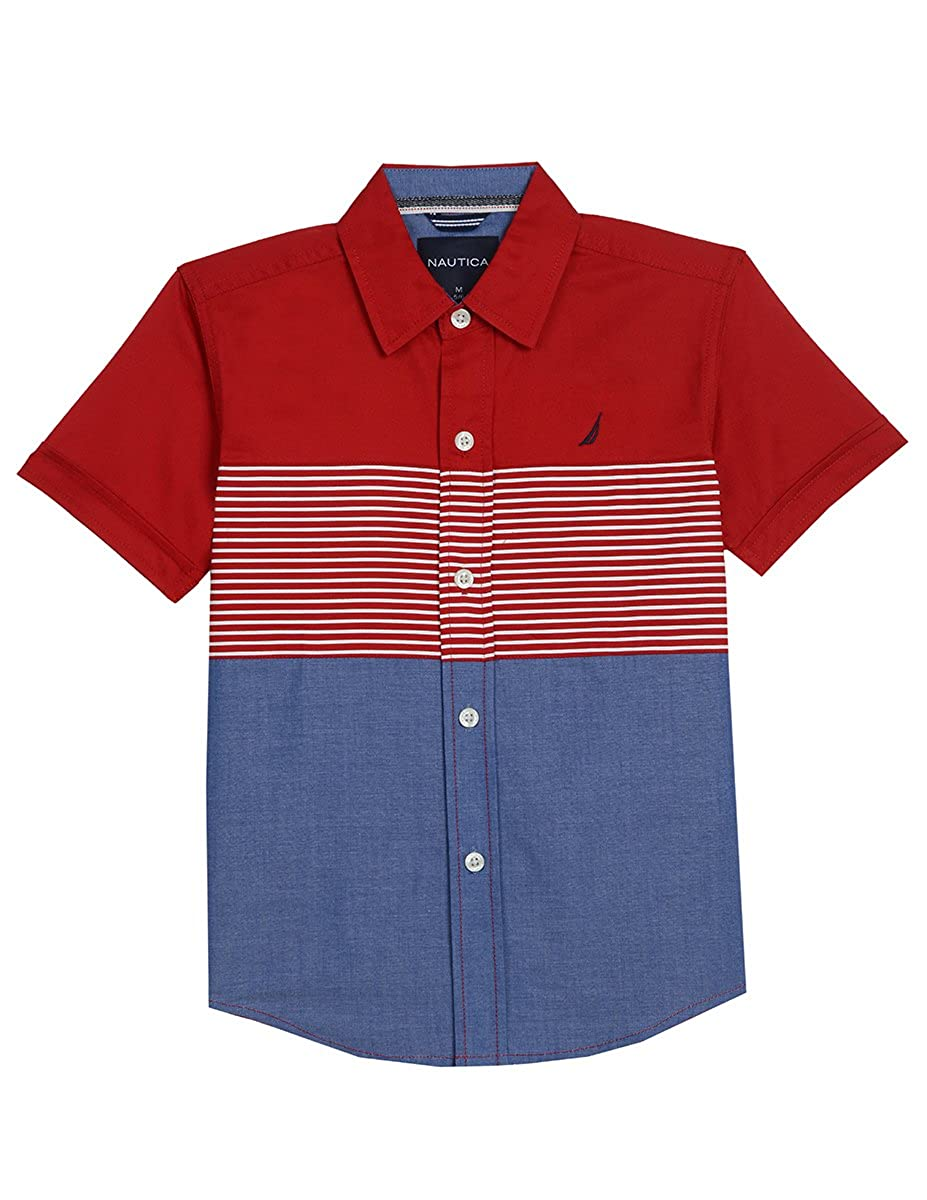 Nautica Boys' Short Sleeve Chambray Shirt 75153Q