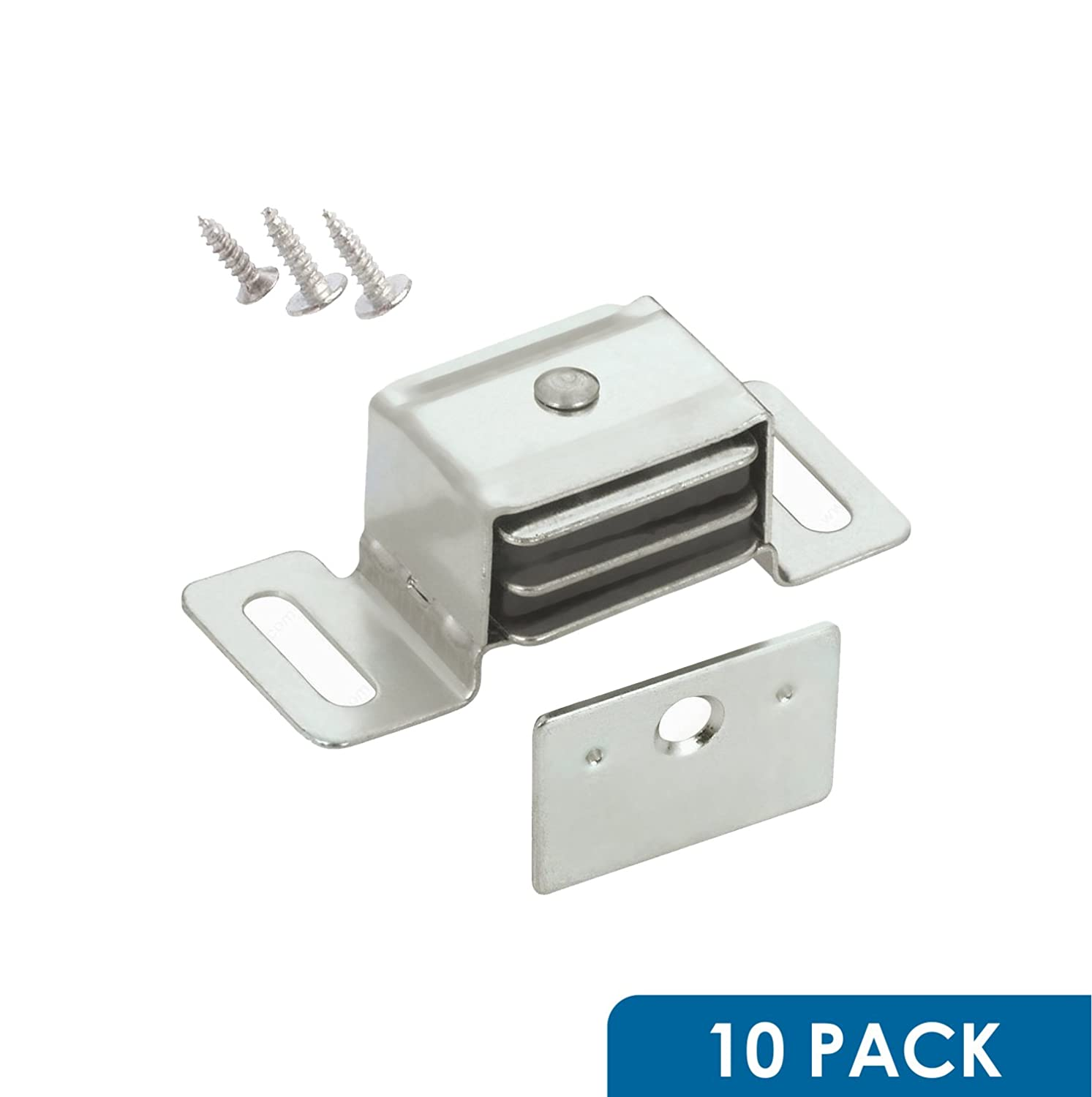 10 Pack Rok Hardware Double Side Strong Magnetic Catch Latch Cabinet Closet Drawer Doors
