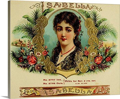 Isabella Cigar - Vintage Cigar Box Gallery-Wrapped Canvas by greatBIGcanvas