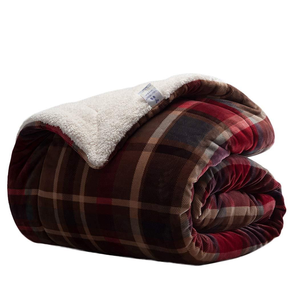 毛布 :、ふさふさフランネル毛布 さいず、三層両面肥厚スーパーソフトスーパーウォームブランケット (色 B07Q2M2S85 : 格子縞の, サイズ さいず : 180X220cm) 180X220cm 格子縞の B07Q2M2S85, KOMEHYO USED WEAR:9beb6f29 --- ijpba.info