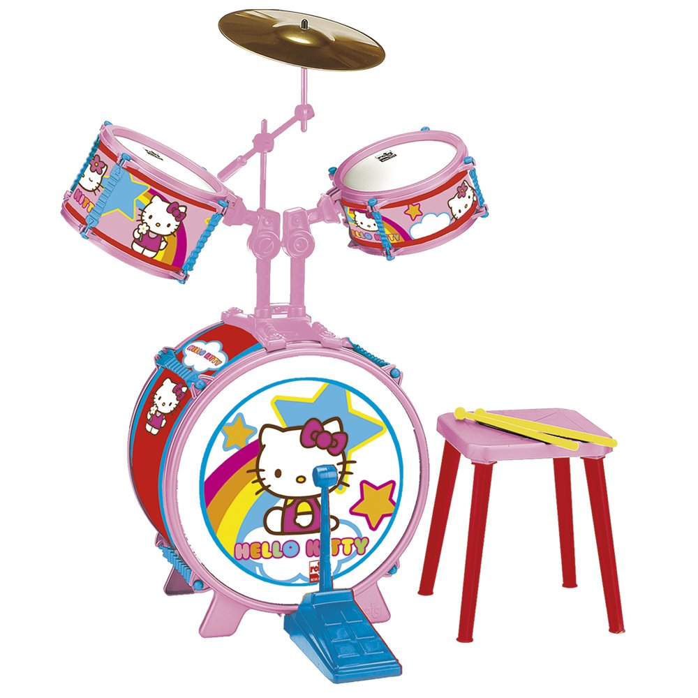 Reig Hello Kitty Drum Set with Stool (3 Pieces) by Reig