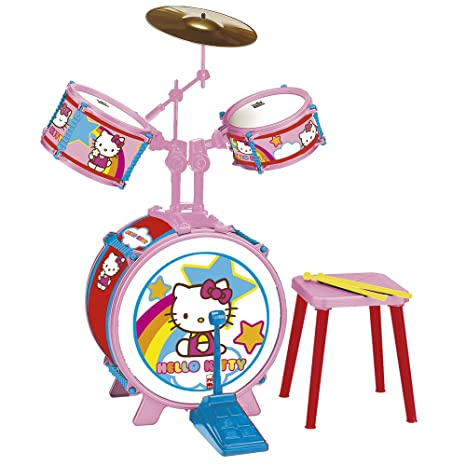 Amazoncom Reig Hello Kitty Drum Set With Stool 3 Pieces Toys