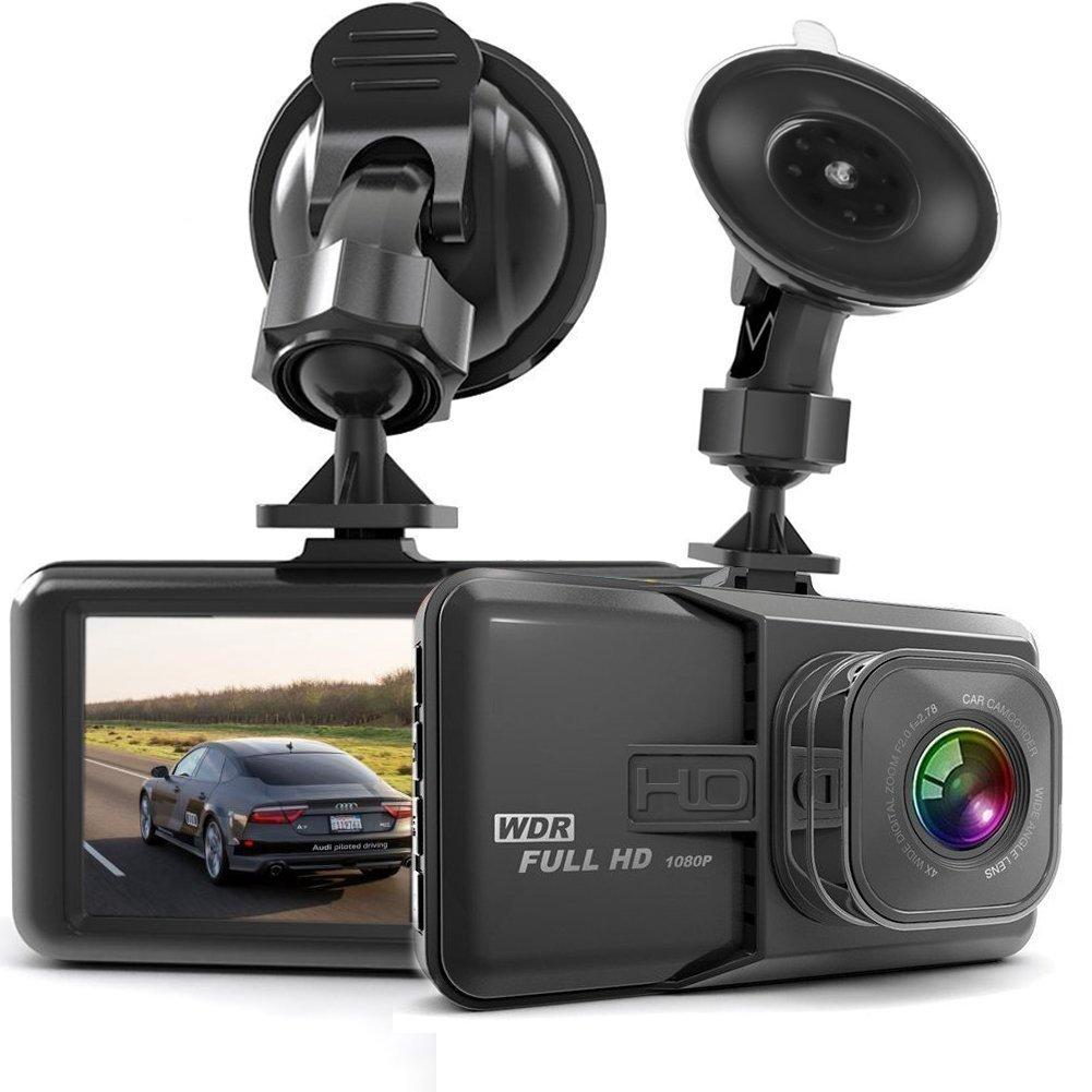 Dash Cam HaWacha Dash Camera for Cars with Full HD 1080P 170 Degree Super Wide Angle Cameras, 3.0' TFT Display, G-Sensor, Night Vision, WDR, Loop Recording 3.0 TFT Display
