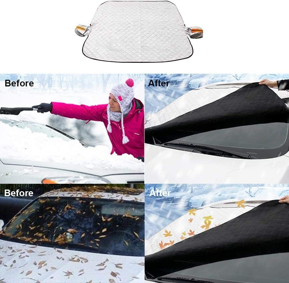 Car Snow Blanket Car Windshield Cover 9 Pieces Magnets Car Anti Frost Sun Protection Protective Cover Visor Protection For All Season Cars Suv 0604 Size Car Paragraph Küche Haushalt