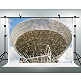 FH 10x7ft Radio Telescope Backdrop Blue Sky White Clouds Photography Background Themed Party YouTube Backdrop Photo Booth Studio Props FH1063