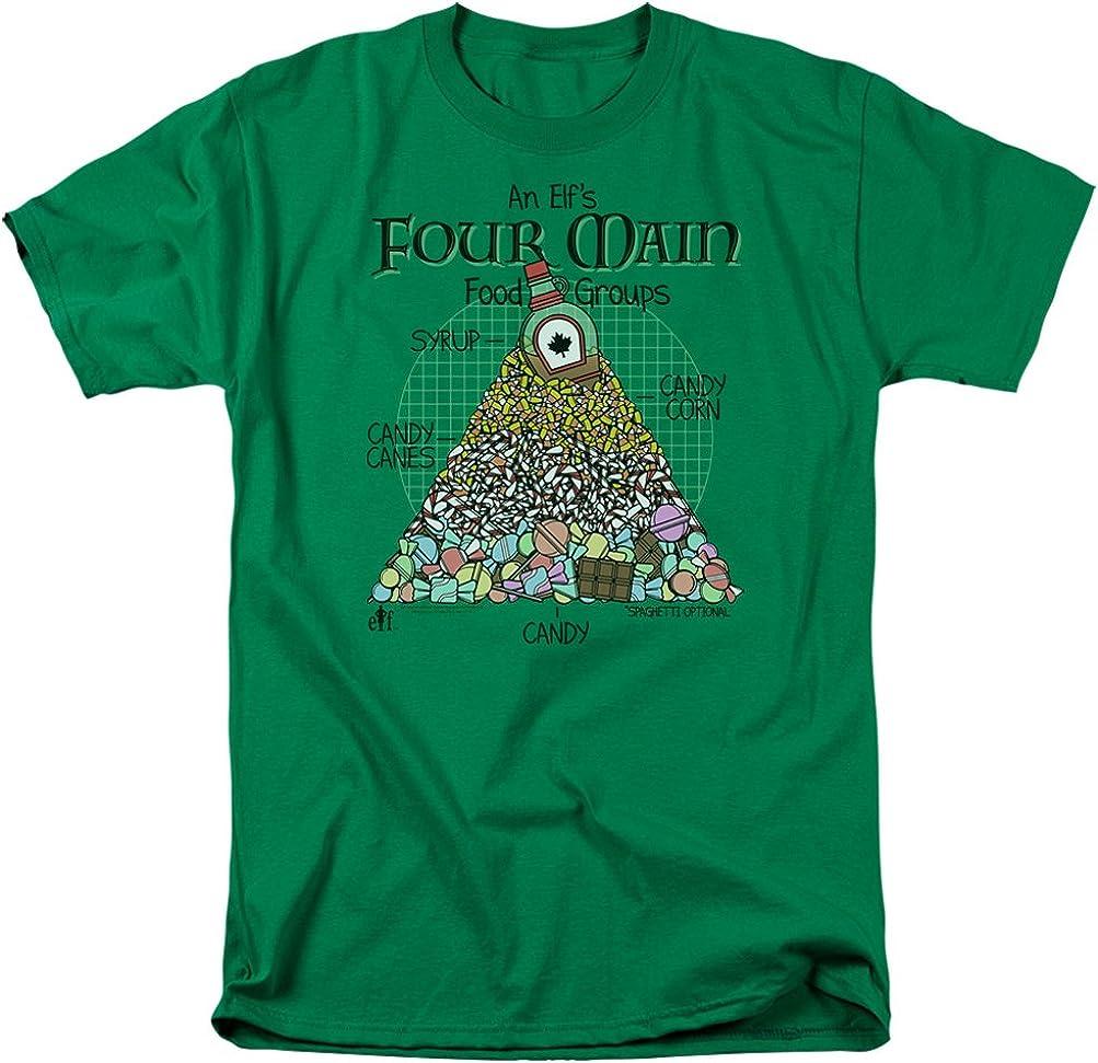 A&E Designs Elf Shirt Four Main Food Groups Christmas T-Shirt