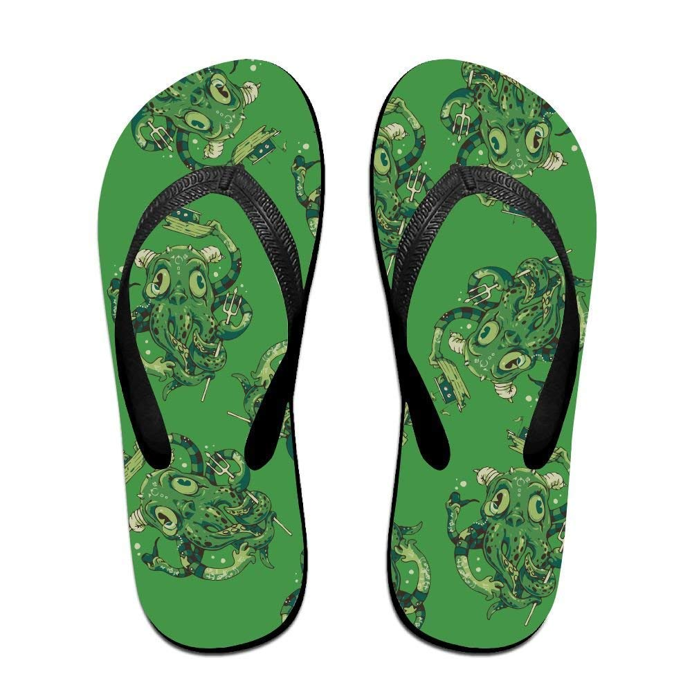 Flip Fl Ugly Green Octopus Unisex Trendy Print ippers Beach Sanl