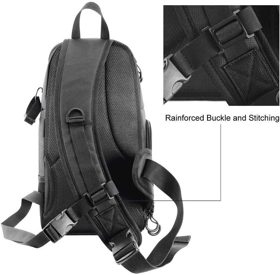 Color : Red, Size : As Shown Zichen Backpack Backpack Camera Sling Bag Shoulder Cross DSLR Case Waterproof w//Rain Cover Camera Sling Soft Padded Men Women Bag Backpack As Shown Red