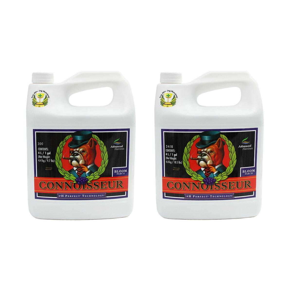 Advanced Nutrients 1660-15AB pH Perfect Connoisseur Bloom Part A+B, 4 Liter, Brown/A