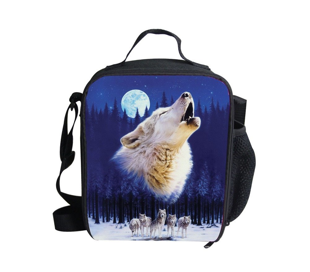 Sannovo Zoo Animal wolf Small Food Box Lunch Bag for Kid School Picnic Container by Sannovo (Image #1)