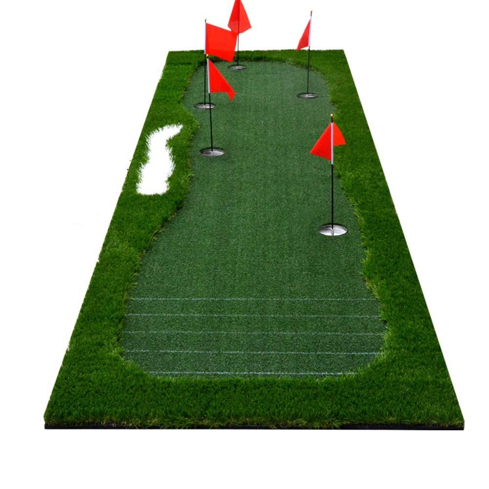 インドアマットゴルフミニアーティフィシア ポータブル屋内/屋外ゴルフグリーンパッティンググリーンシステムプロの練習パタートレーニングマットエクストラロングリアルライクグラスパッティングトレーナーセット サーフェスフラッグアクセサリー (色 : 緑, サイズ : 1*3.5m) 1*3.5m 緑 B07RM279Q5