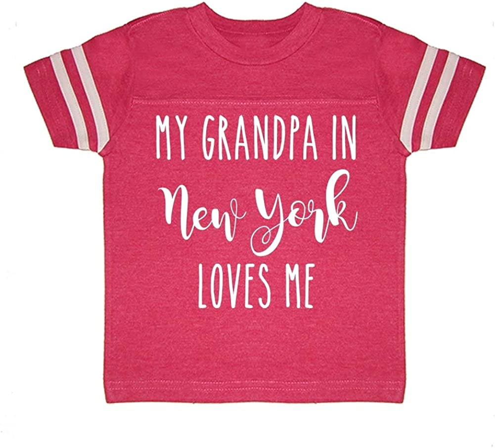 My Grandpa in New York Loves Me Toddler//Kids Sporty T-Shirt