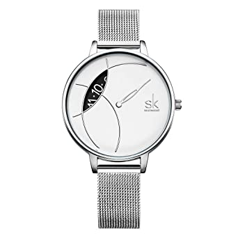d61bf7df3 SK Women Watch Fashion Analog Ladies Watches on Sale Mesh Female Watches  for Women (K0091