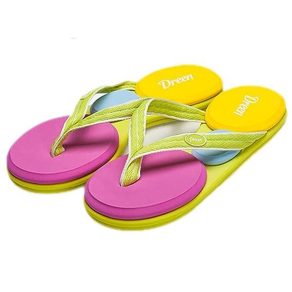SHANGXIAN Damenschuhe Hausschuhe & Flip-Flops Sommer Canvas Outdoor flachen Ferse geflochten Gurt Upstream , color , 40#