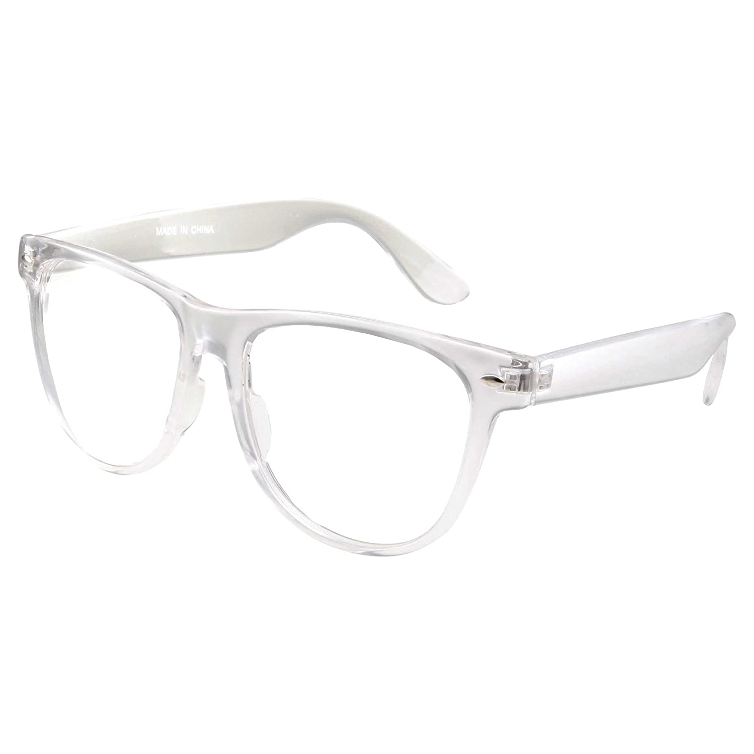 64675db18c3 Mens Large Non Prescription ALL Clear Frame Glasses  Amazon.ca  Clothing    Accessories
