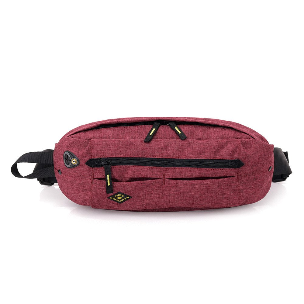 Sammid Waist Bag Pack Earphone Hole Women,Multipurpose Waist Bag Daypacks, Lightweight Hiking Daypack Outdoors Running Climbing - Red