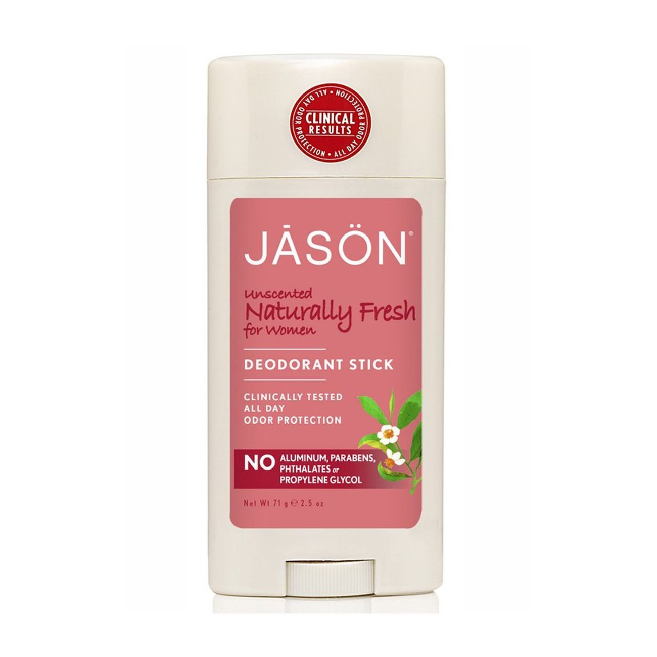 JASON Unscented Deodorant For Women, 2.5 Ounce
