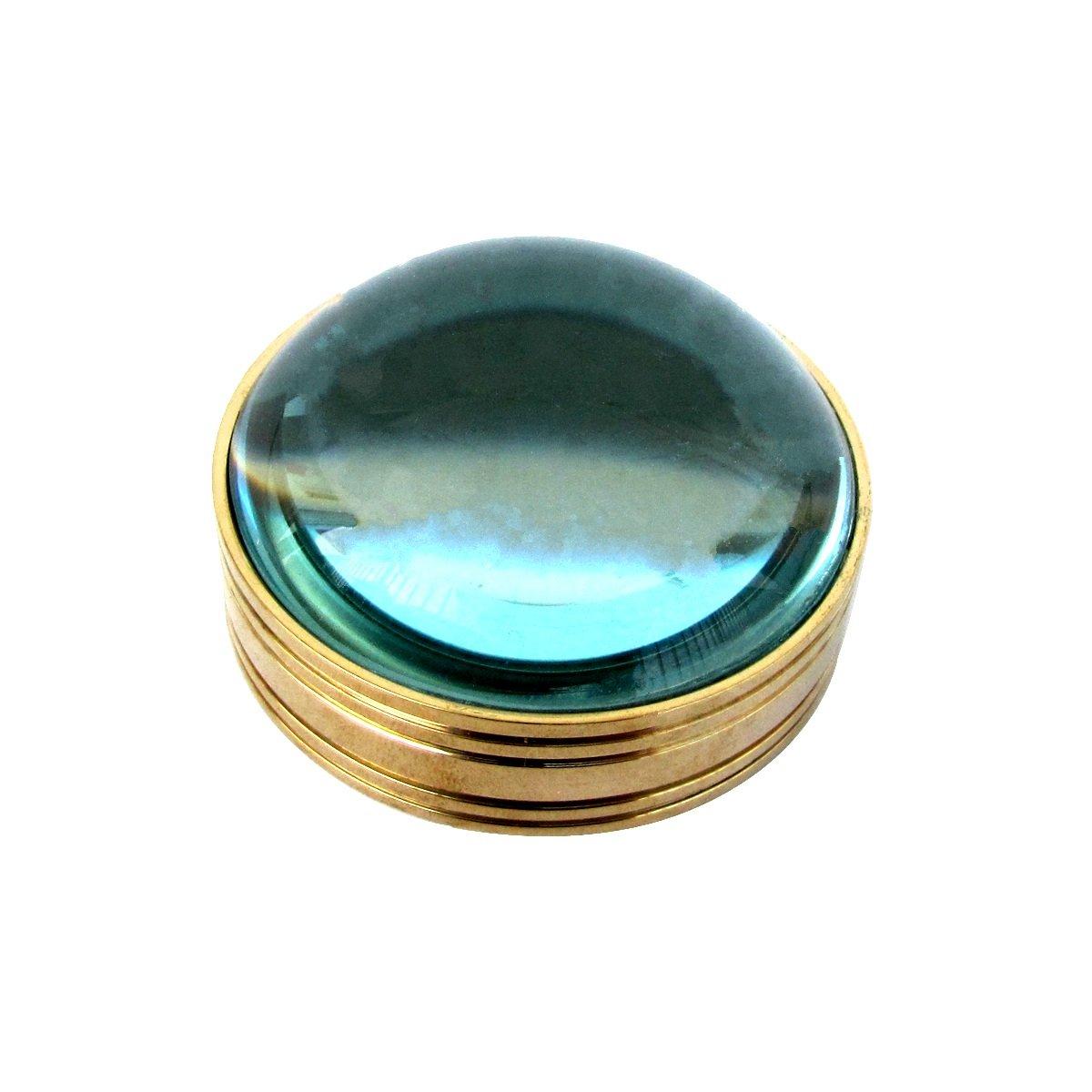 TG,LLC Solid Brass Magnifying Glass Desktop Magnifier