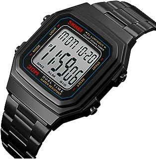 Unisex Retro Digital Watches Multifunctional Stopwatch Countdown Alarm Backlight Water Resistant Watch