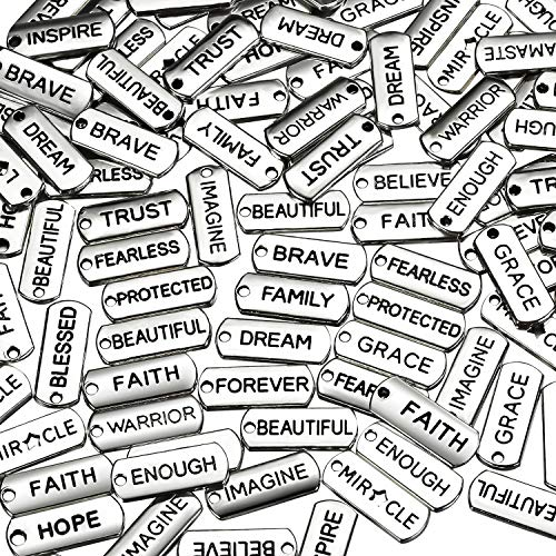Word Charms Pendants Engraved