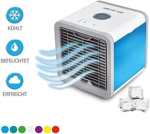 WANG XIN Evaporador De Aire Móvil Arctic Air,con Conexión USB Y Enchufe,3 Niveles De Enfriamiento,7 Lámparas De Estado De Ánimo,El Televisor Original: Amazon.es: Hogar