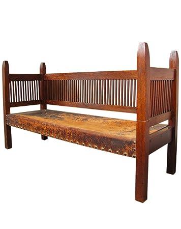 Fine Amazon Com Antique Onondaga Shop Ljg Stickley Spindled Lamtechconsult Wood Chair Design Ideas Lamtechconsultcom