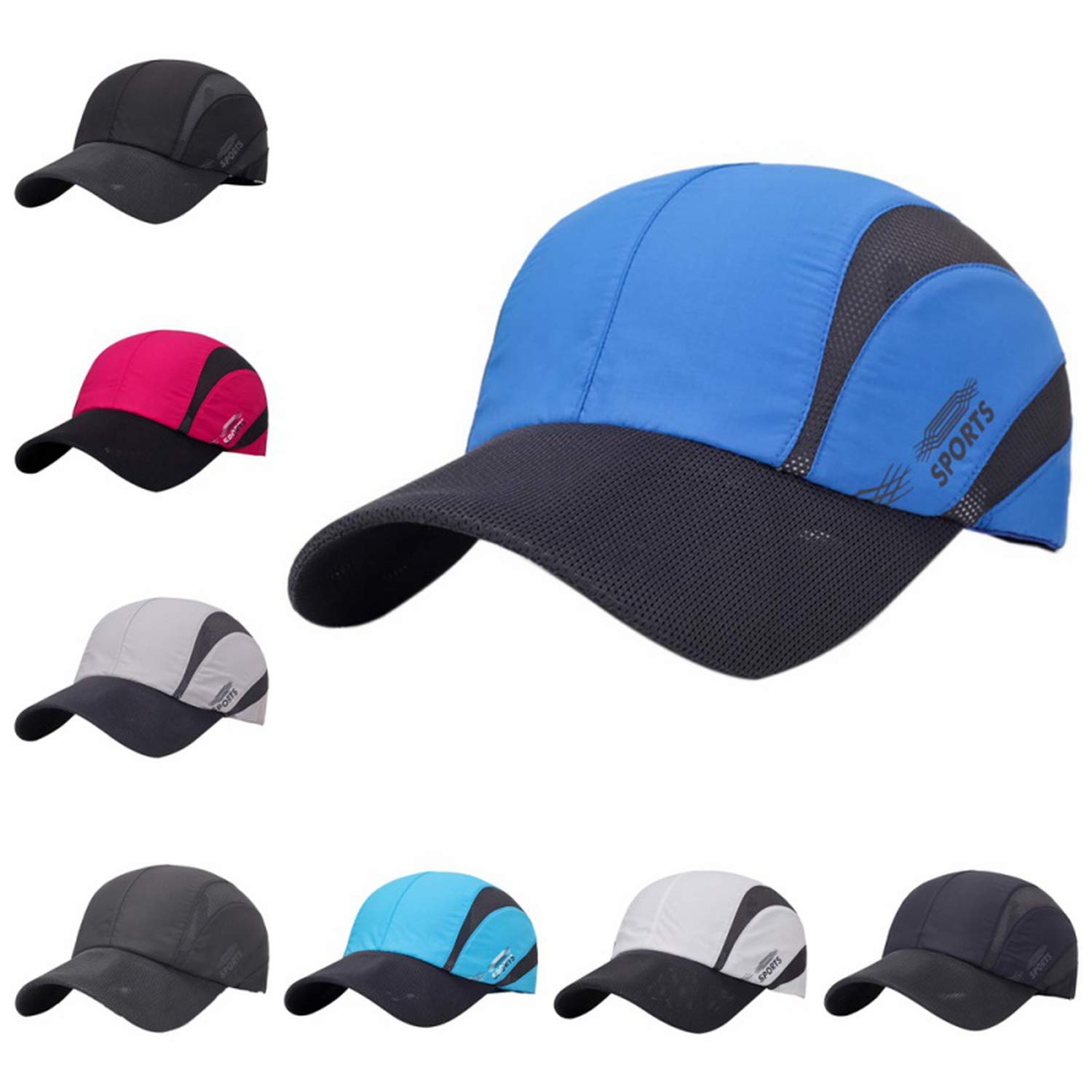 Feisette 2019 Summer Men Cap Quick Dry Mesh Baseball Hat Men Tourism Fishing Cap Bones Sport Climbing Black Grey Gorras