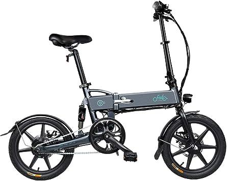 XYDDC Bicicleta eléctrica Plegable de 16 Pulgadas de aleación de ...