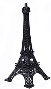 Eiffel Tower Paris France Metal Stand Statue Model for Home Decor or Wedding Theme (Black)